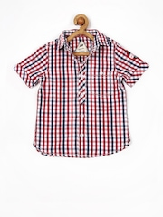 Yellow Kite Boys Red & Blue Checked Shirt