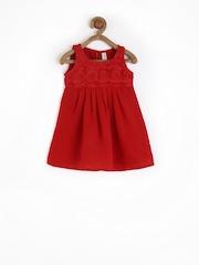 Yellow Kite Baby Girls Red A-line Dress