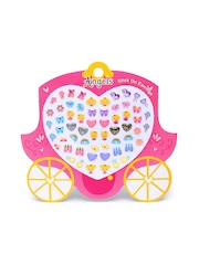 Angels by Accessorize Girls Set of 30 Pairs of Multicoloured Stick-On Stud Earrings