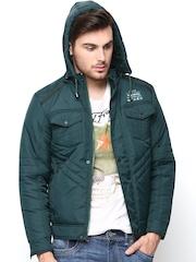 Fort Collins Men Green Jacket with Detachable Hood