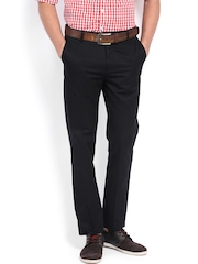 U.S. Polo Assn. Men Black Tapered Fit Trousers