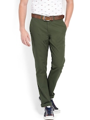 U.S. Polo Assn. Men Green Slim Fit Trousers