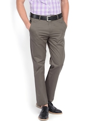 U.S. Polo Assn. Men Grey Tapered Fit Chino Trousers
