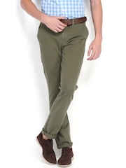 U.S. Polo Assn. Men Olive Green Slim Fit Trousers