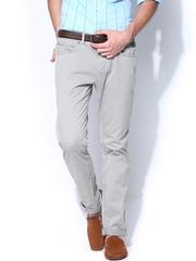 Breakbounce Men Grey Buddy Hug Regular Fit Casual Trousers