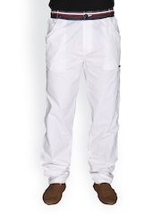LD Active Men White Casual Trousers