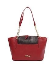 Hidesign Red Leather Shoulder Bag