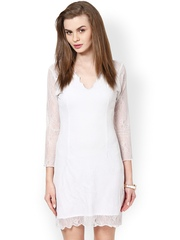 Calgari Off-White Sheath Dress