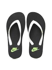 Nike Women White Aquaswift Thong Flip-Flops