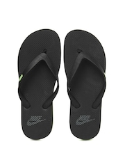 Nike Men Black Aquaswift Thong Flip-Flops