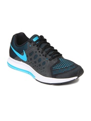 Nike Men Black & Blue Air Zoom Pegasus 31 Running Shoes