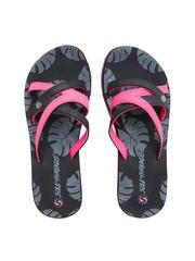 Sole Threads Women Pink & Black Flip-Flops