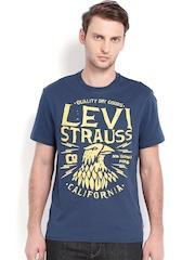 Levis Men Blue Printed T-shirt