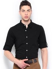 Roadster Men Black Alonso Slim Fit Casual Shirt