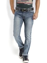 Locomotive Men Blue Slim Straight Fit Jeans