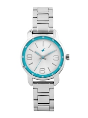 Fastrack Women Silver-Toned Dial Watch 6111SM01