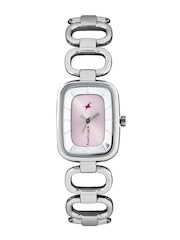 Fastrack Women Peach-Coloured Dial Watch 6120SM02