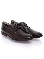 Clarks Men Dark Brown Leather Formal Shoes