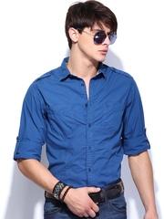 Roadster Men Blue Jonas Shelby Slim Fit Casual Shirt