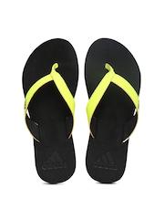 Adidas Women Neon Yellow Flip-Flops