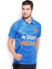 Nike Men Blue Authentic Match Replica Indian Cricket Team Jersey