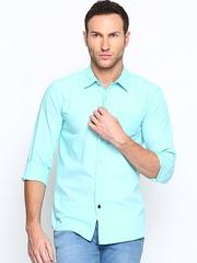 Wrangler Men Mint Green Casual Shirt