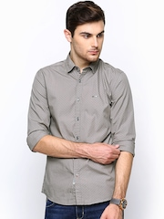 Wrangler Men Grey Printed Casual Shirt