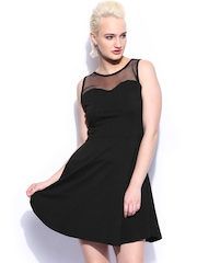 Miss Chase Black Watch Your Back Skater Dress