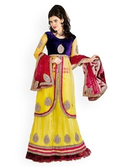 Yellow Net One-Minute Lehenga Saree Chirag Sarees