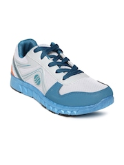 Action Men Grey & Teal Blue Running Shoes