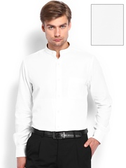 Men White Premium Formal Fit Formal Shirt Arrow