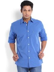 Arrow Sport Men Blue Regular Sport Fit Smart Casual Shirt