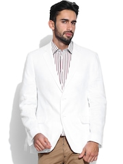 Arrow Men White Linen Blazer
