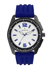 Aveiro Men Steel-Toned Dial Watch AV49SILBLU