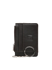 Adamis Unisex Brown Leather Card Holder