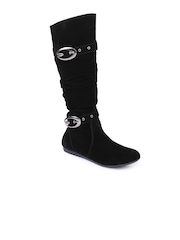 Do Bhai Women Black Boots