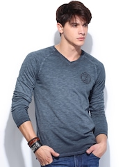 Roadster Men Blue T-shirt