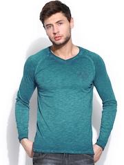 Roadster Men Teal Blue T-shirt