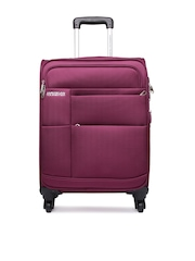 American Tourister Unisex Maroon Speed Spinner Trolley Suitcase