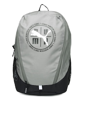 PUMA Unisex Grey & Black Echo Backpack