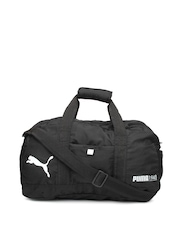 PUMA Unisex Black Fundamental Sports Duffle Bag