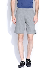 PUMA Men Grey Melange ESS Jersey Shorts