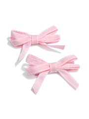 NeedyBee Girls Set of 2 Pink Alligator Hair Clips