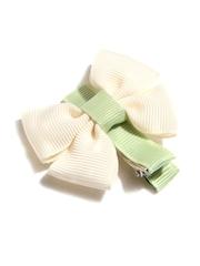 NeedyBee Girls Cream-Coloured & Green Alligator Hair Clip