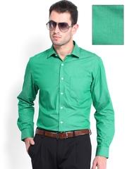 Peter England Men Green Slim Fit Formal Shirt
