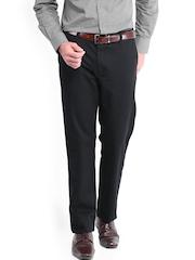 Peter England Men Black Slim Fit Trousers