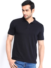 Highlander Men Black Polo T-shirt