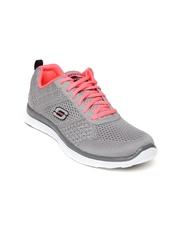 Skechers Women Grey Flex Appeal Training Shoes