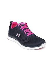 Skechers Women Navy & Pink Flex Appeal Training Shoes