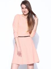 Vero Moda Peach-Coloured Fit & Flare Dress